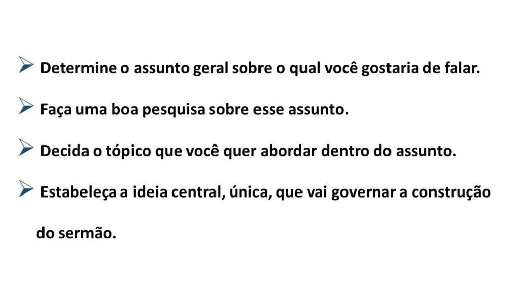 ESTRUTURA DO SERMÃO